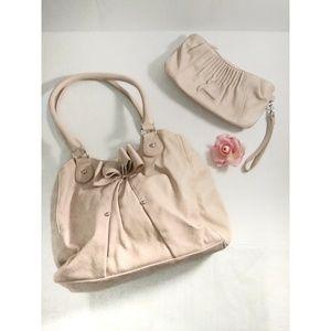 Elle light pink matching purse & wristlet wallet
